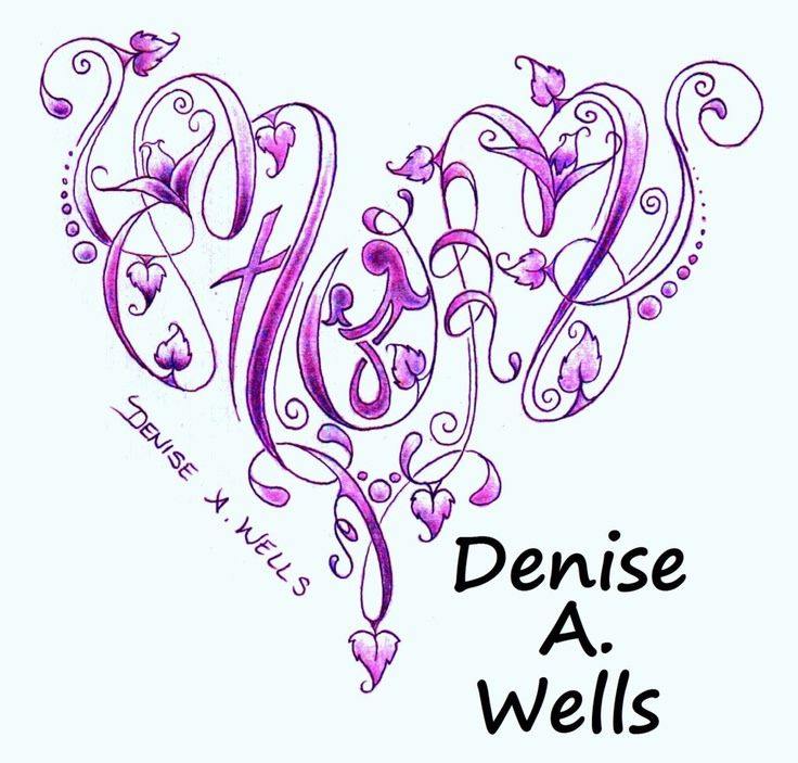 Mom tattoo design by Denise A. Wells including mother and child symbol