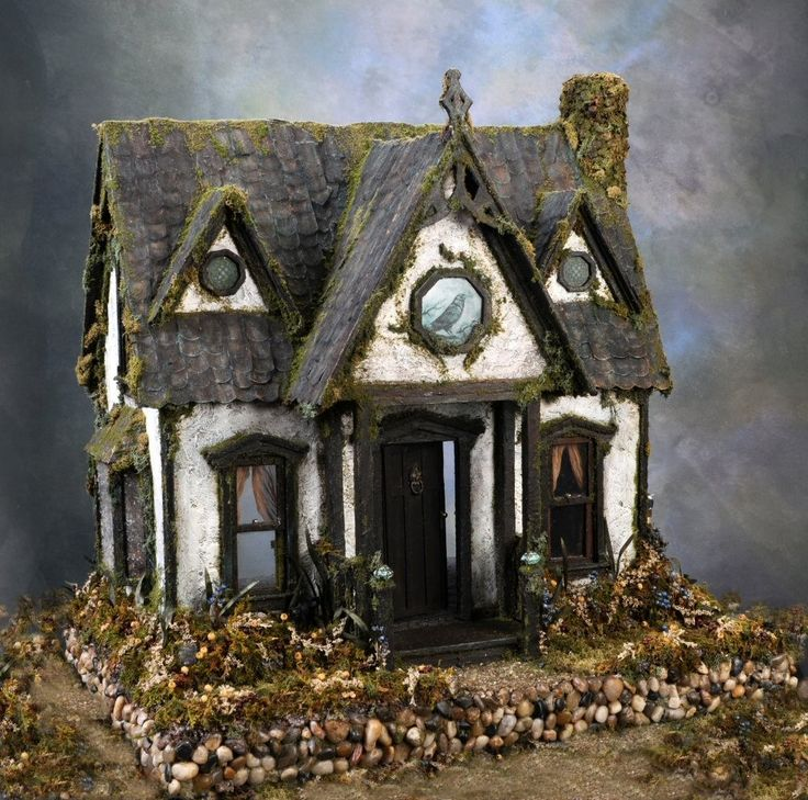 Ravenwing Cottage Witch's Dollhouse Custom by MelissaChaple. $1,500.00, via Etsy.  Same version I'm painting right now.