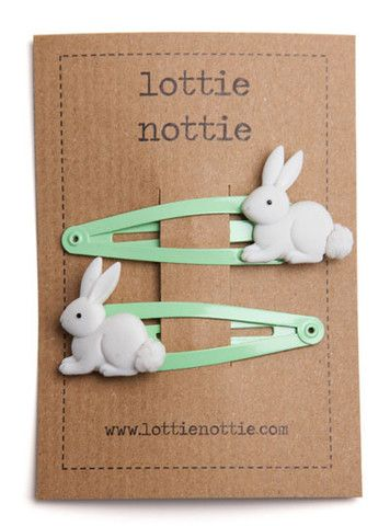 30 easter gifts pinterest lottie nottie bunnies on green hair clips negle Choice Image