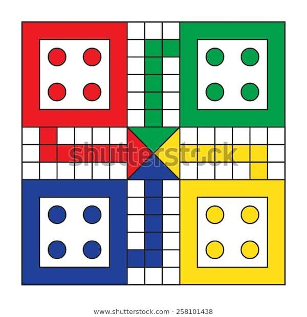 Vector De Stock Libre De Regalías Sobre Mesa De Juego De Ludo Vectorial258101438 Descubra M Board Games Board Game Template Printable Board Games