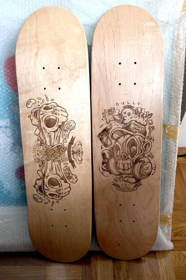 Behance :: Editing New Engraving Skateboards (video added)