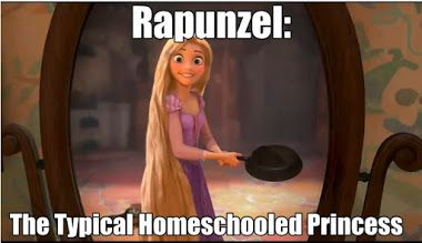 "I was just thinking sometimes I feel like Rapunzel. Don't get me wrong. Homeschoolers are ""socialized"" but I feel like her"