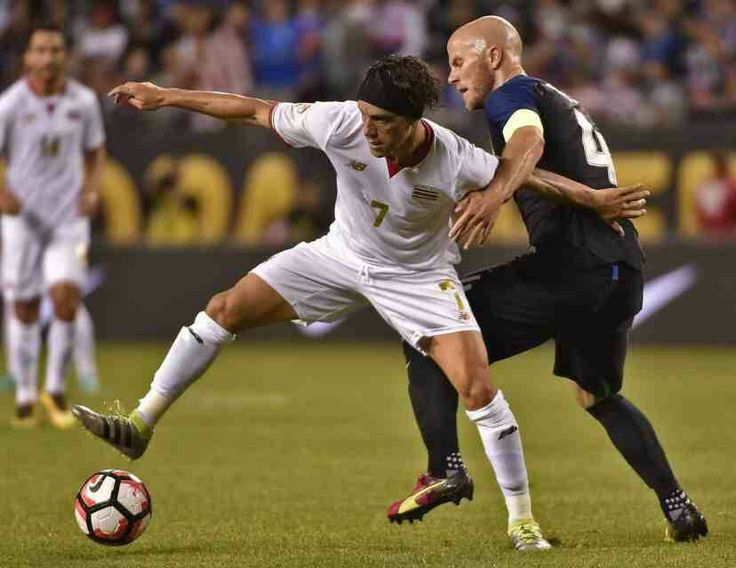 USA 4 Costa Rica 0 in 2016 in Chicago. Christian Bolanos and Michael Bradley in action in Group A at Copa America.