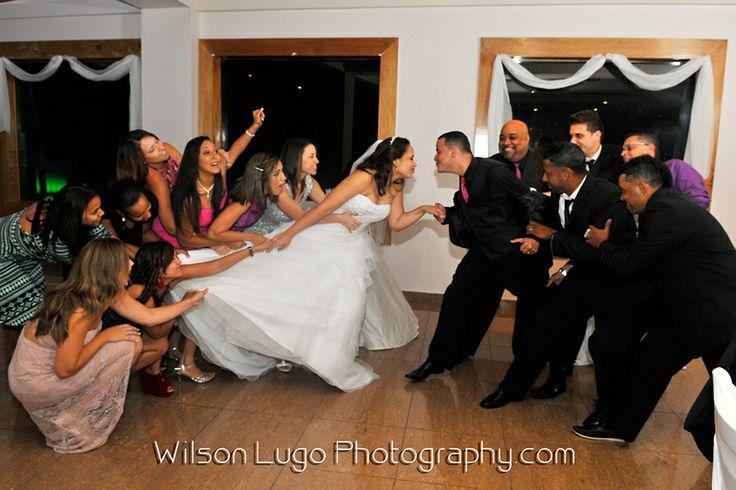 Foto divertida de boda