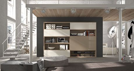 "The bookcase ""Acropolis"" by Tisettanta is now available on display at our London showroom"
