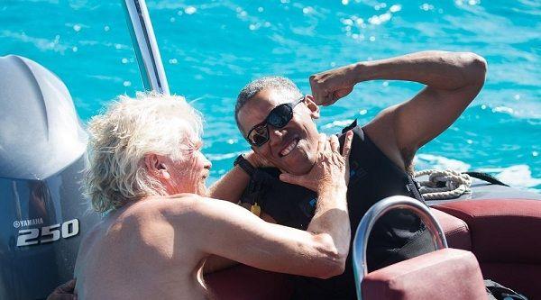 Barack Obama disfruta de las Islas Vírgenes