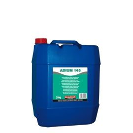 ADIUM 145: Liquid polycarboxylic-based admixture acting as concrete superplasticizer. When added during preparation of concrete, reduces water demand up to 30%. When added to the ready-mixed concrete improves significantly its workability (self-compacting concrete), without need of additional water. Ideal for precast concrete elements.