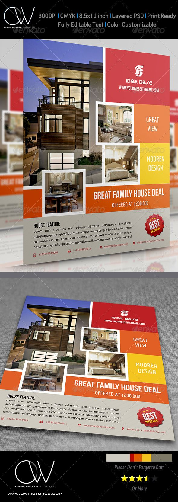 #Real #Estate Flyer Vol.5 - Commerce #Flyers Download here: https://graphicriver.net/item/real-estate-flyer-vol5/4669832?ref=alena994