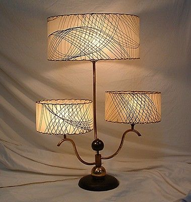 Spectacular Mid Century Modern 3 Arm 3 Fiberglass Shades Atomic Table L& & 184 best Atomic Age Lamps images on Pinterest | Lights Mid ... azcodes.com