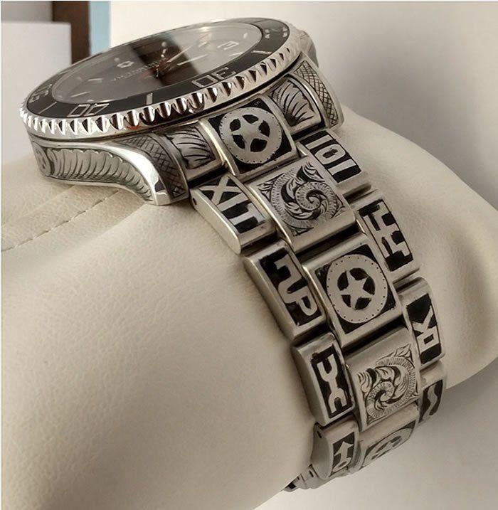 Texas Ranger Cattle Brand Victorinox Maverick Automatic Watch Etsy Watch Engraving Hand Engraving Bracelets For Men