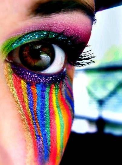 Trucco occhi effetto arcobaleno