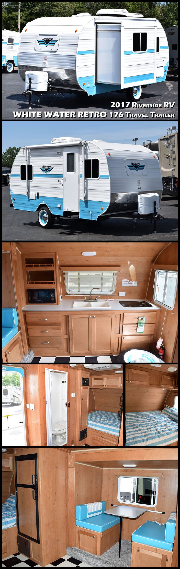 2017 retro 176s by riverside rv sleek lines and curves colors that punch and
