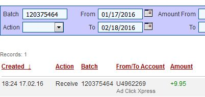 """I am getting paid daily at ACX and here is proof of my latest withdrawal. This is not a scam and I love making money online with Ad Click Xpress."""