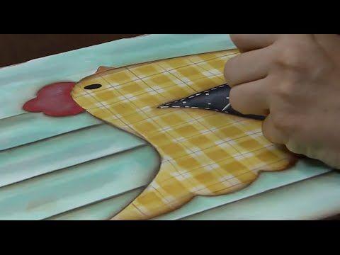 Galinha com Lousa - Soraia Leite - Pintura Country, Pintura em Madeira, Pincéis Importados, Tintas, Kits