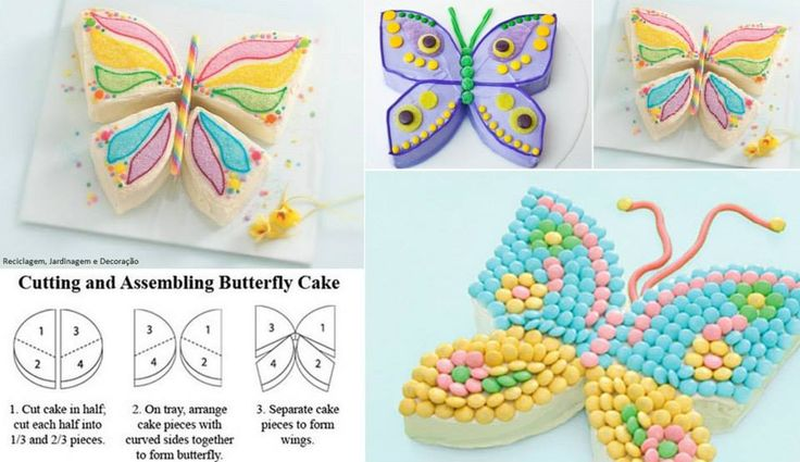 how to cut a cake to make a sweet butterfly