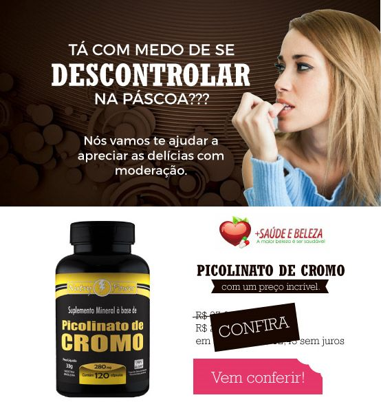Com medo de perder a linha nessa Páscoa? Nós vamos te ajudar!  http://www.maissaudeebeleza.com.br/p/375/picolinato-de-cromo-280mg-c120-capsulas?utm_source=pinterest&utm_medium=link&utm_campaign=Ofertas+Especiais&utm_content=post  Comprar no WhatsApp (41) 8868-4301 | (41) 3022-7393 Seg. à Sex. das 8h às 18h | Sábados das 8h às 12h