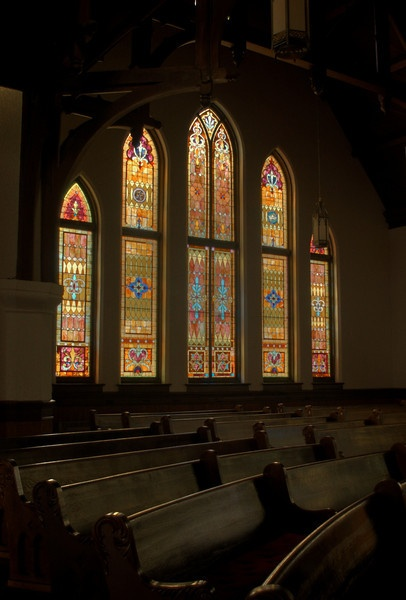 #Blog 12 This picture of Newton chapel combines the use of repetition along with unity, as the stained glass reflects its counterpart starting from the middle.