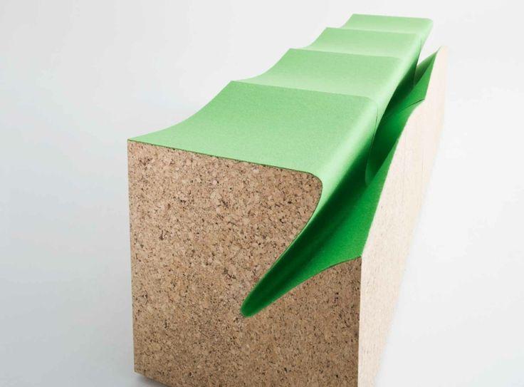 Italienische Möbel Designer Alessandro Isola Designermöbel Eroded Stools  Kork Modular Möbel