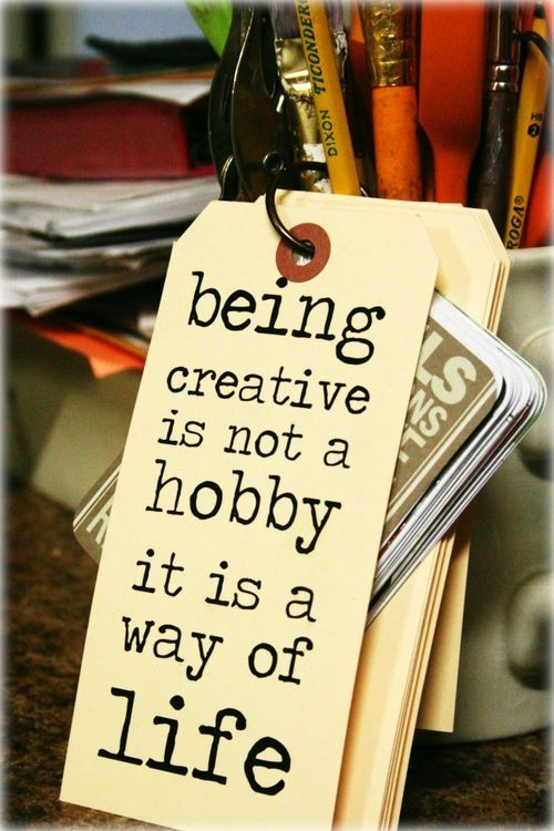 Great quote on creativity, which is a main ingredient in repurposing and reusing!