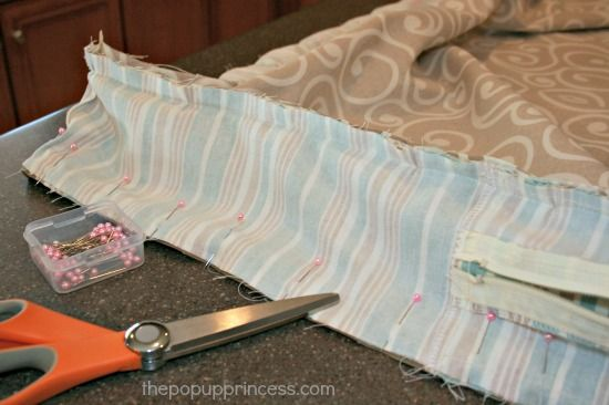 Sewing Camper Cushion Covers:  Good tips for reupholstering your camper seat cushions.