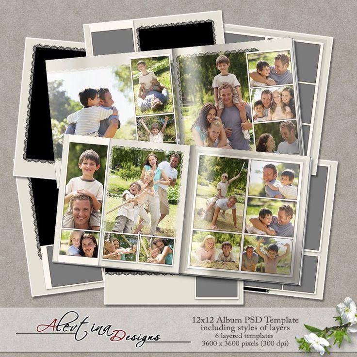 Templates 12x12 album PSD  (PU/S4H) by Alevtina