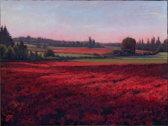 Crimson Clover  www.MichaelOrwick.com  Oil on Canvas  30 x 40 x 2