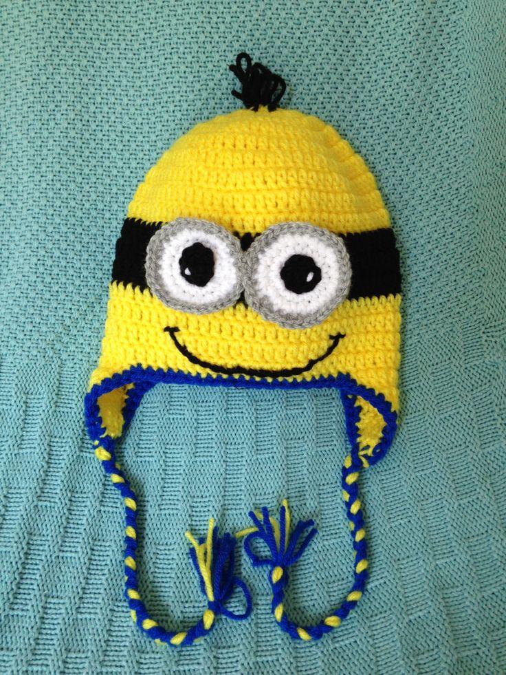 Minion Toca em Crochê Padrões -  /   Minion Beanie into Crocheting Standards -