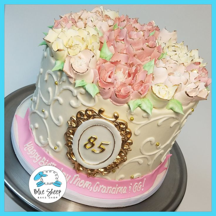 vintage floral buttercream nj