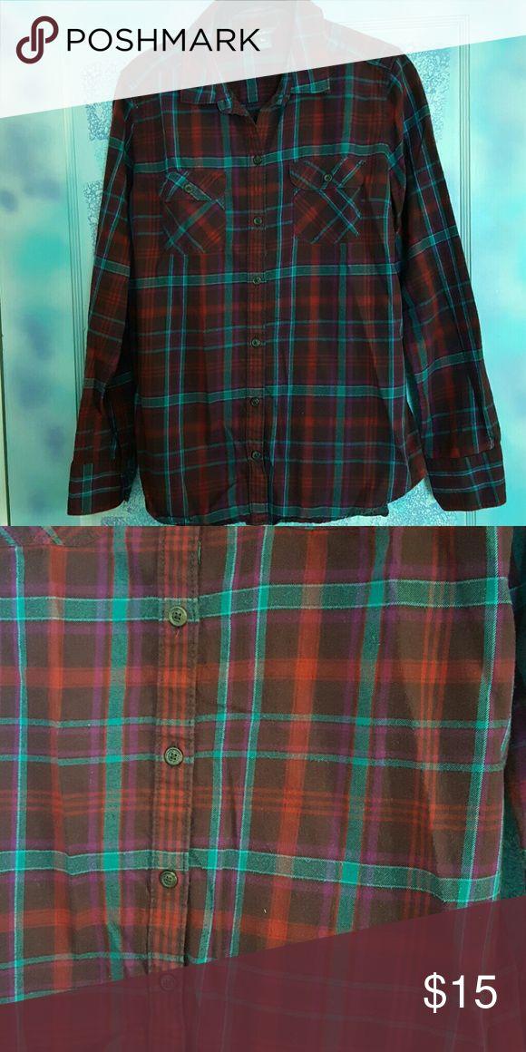American Eagle Plaid Shirt Womens