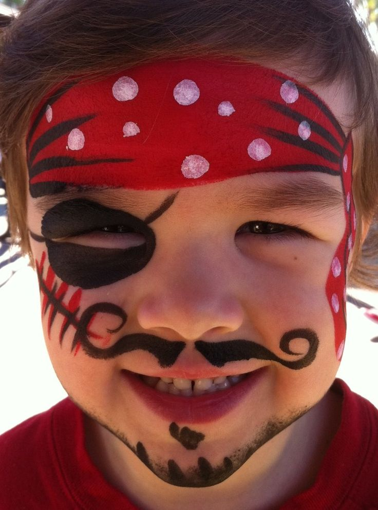 pirate face painting   Face Painting & Body Art