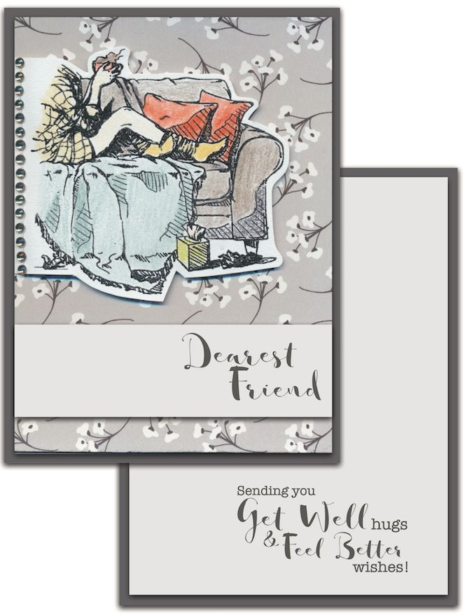 Colorado Craft Company Lovely Legs Get Well Clear Stamps Ll203