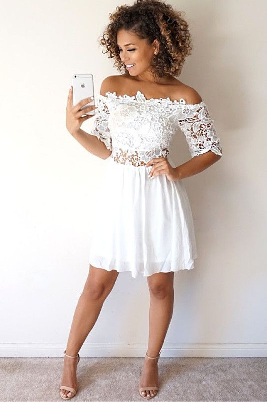 white homecoming dresses,short homecoming dresses,off shoulder homecoming dresses