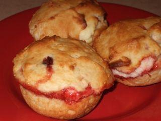 Muffins au fromage à la crème et framboises/Recettes du Québec