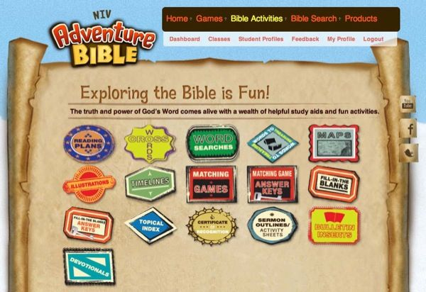 Introducing The Adventure Bible website :: a super interactive resource!
