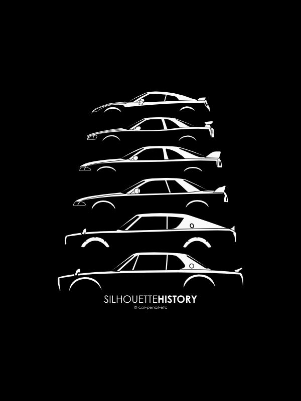 Nissan skyline and gtr history poster #9