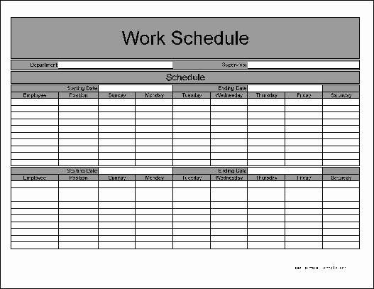 Employee Weekly Schedule Template Free Lovely Employee Bi Weekly Timesheet Template Templa Schedule Template Monthly Schedule Template Weekly Calendar Template