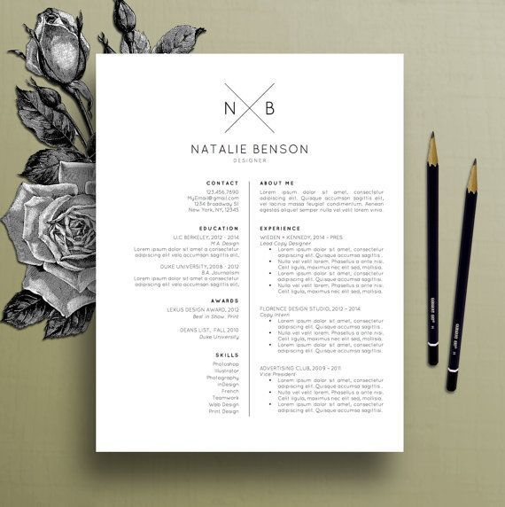 modern resume template cover letter template for word professional resume template design creative resume free resume template natalie