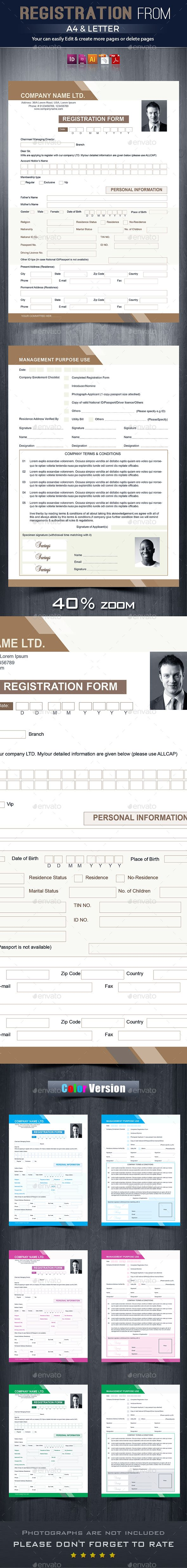 #Registration & #Contact #Form - Miscellaneous Print Templates