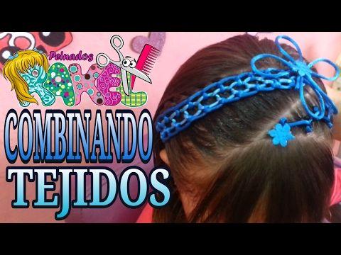 PEINADO INFANTIL/ Combinando Tejidos/ Peinados Rakel 4 - YouTube