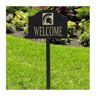 HensonMetalWorks 2-Line Lawn Address Sign NCAA Team: Michigan State University