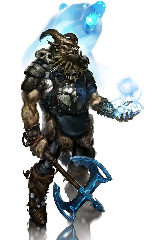 And now for something even meaner. Here's our artist's take on a Troll Shaman