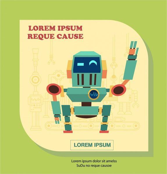 vintage robot hello gesture