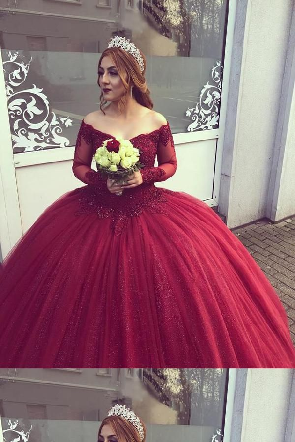 Lace Burgundy Prom Dresson Mexicans