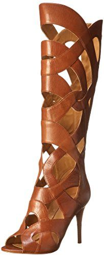 Nine West Women's Dewy Leather Gladiator Boot,Dark Natural,5 M US Nine West http://www.amazon.com/dp/B00OTLZM68/ref=cm_sw_r_pi_dp_1.8Rub14RNSTN