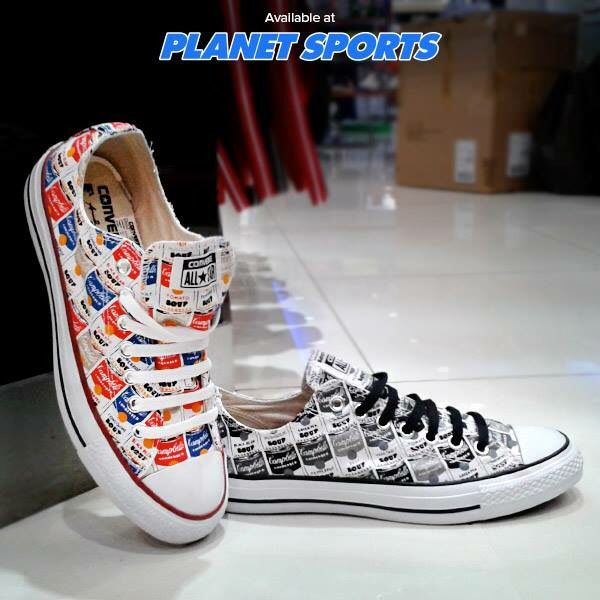 Converse Andy Warhol collection at Planet Sports