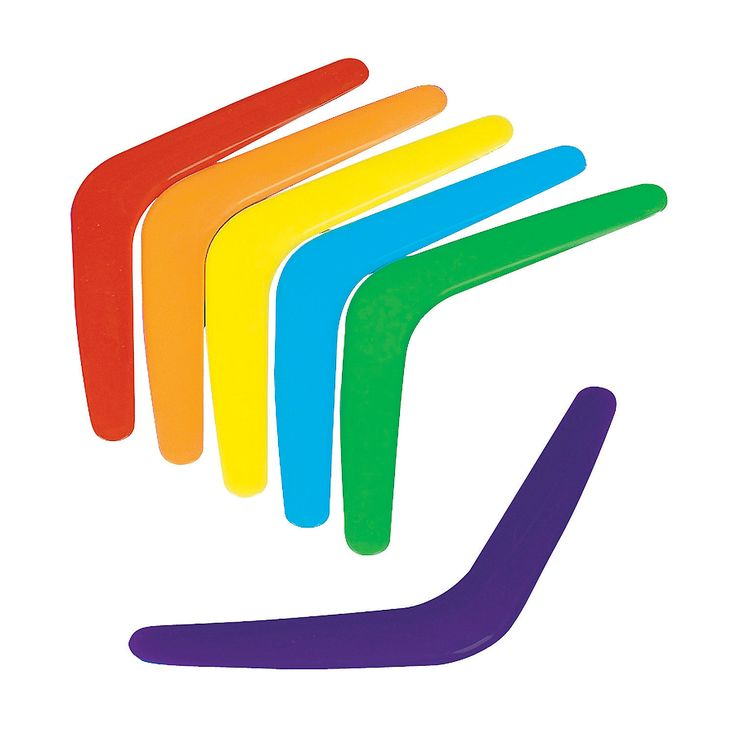 Colorful Boomerangs - $13.50 for 48 http://www.orientaltrading.com