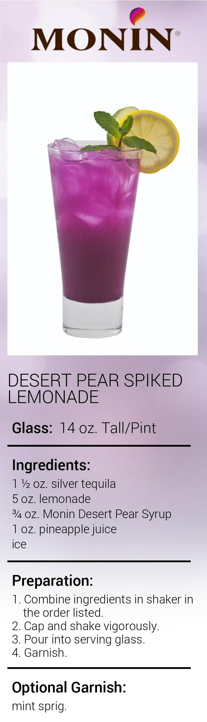 Desert Pear Spiked Lemonade
