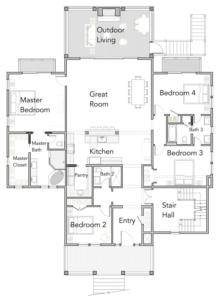 view orientated coastal house plans perch collection flatfish island designs coastal home plans - Beach House Floor Plans