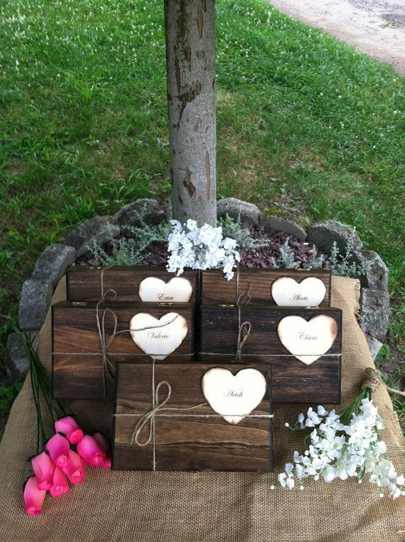 Wedding Gift Boxes For Bridesmaids : Bridesmaid Gift Box - 6 Personalized Bridesmaid Keepsake Box - Bridal ...