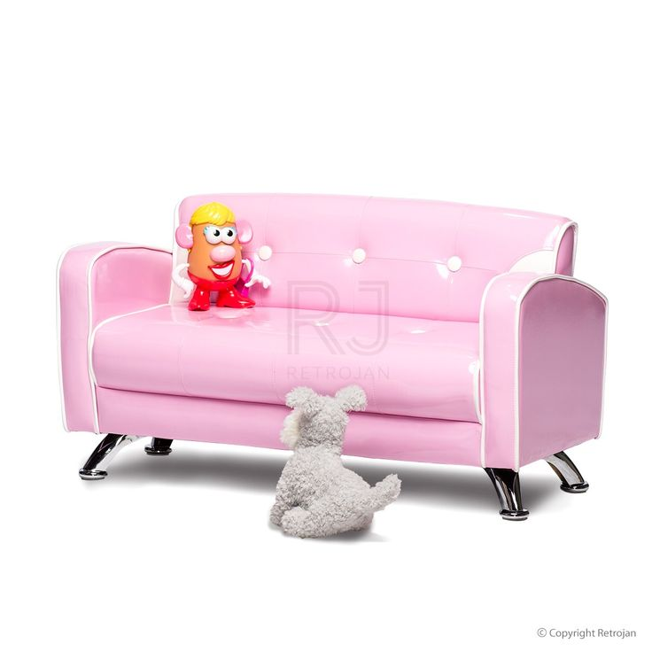 Ginny Kids Sofa - Bubblegum Pink  | $99.00
